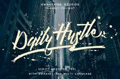 Daily Hustle #fonts #typefaces #fontbundle #typography #scriptfont #marchbundle