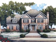 Colonial House Plan with 2215 Square Feet and 3 Bedrooms from Dream Home Source | House Plan Code DHSW42493