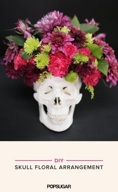 A Skull Floral Arrangement You'll Want to Keep All Year