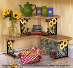 Cute sunflower kitchen decor