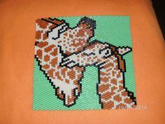 Giraffe aus Hama Bügelperlen von  pikmin3