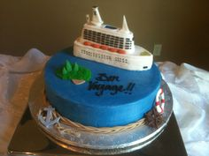 Wouldn't this be the perfect grooms cake if your honeymoon was a cruise!