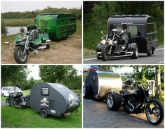 motorcycle camping trailers | ... of a tarp and a full-size camper are the motorcycle trailer pop-ups