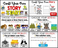 Create Your Own Story! An engaging way to teach students about story elements!