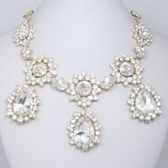 High Quality Swarovski Crystal Necklace Earrings by BellaJewelry4u, $29.99
