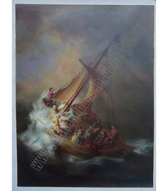Oil painting: The Storm on the Sea of Galilee Artist: Rembrandt Oil painting reproductions for sale - https://www.chinaoilpaintinggallery.com/famous-artists-rembrandt-c-141_144/the-storm-on-the-sea-of-galilee-p-31406