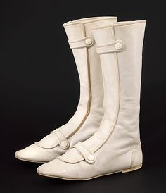 Boots  André Courrèges  (French, born 1923)  Date: ca. 1967 Culture: French Medium: leather Dimensions: 13 x 10 in. (33 x 25.4 cm) Credit Line: Brooklyn Museum Costume Collection at The Metropolitan Museum of Art, Gift of the Brooklyn Museum, 2009; Gift of Barbara Hodes, 1985