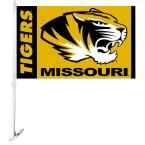 Ncaa 11 in. x 18 in. Missouri 2-Sided Car Flag with 1-1/2 ft. Plastic Flagpole (Set of 2)
