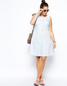 ASOS CURVE Dress In Denim #plussize