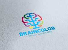 Brain Color Logo by eSSeGraphic on @creativemarket