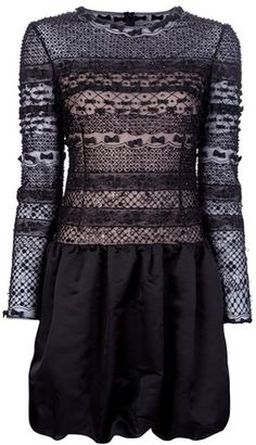 Valentino Lace Dress in Black - Lyst