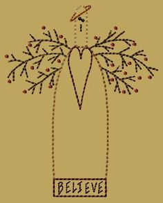 PK174 Sara Version 2 - 5x7 - $8.00 : Primitive Keepers, Prim Machine Embroidery Designs