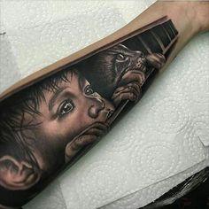 Good work!!  #tattoos #tattoo #tattooed #ink #inked #childtattoo #cattattoo #sleevetattoo #armtattoo #blacktattoo #blackandgrey #blackandgreytattoo #detailed #amazing #tattooart