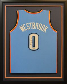 f43d62f6fe7 Framed jersey of  OKCThunder star  RussellWestbrook  FramedJersey   JerseyFraming Framed Jersey