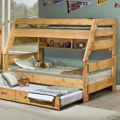 Bunkhouse Full Rodeo Loft Bed With Desk Drawers And