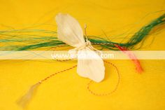 Martisor - FLUTURE - din panusa, lucrat manual Floral, Flowers, Flower