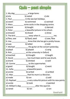 English Grammar Exercises, English Grammar For Kids, Learning English For Kids, English Worksheets For Kids, English Teachers, English Quiz, English Lessons, Learn English, English Study