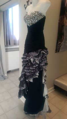Tony Bowls Black and Grey Asymmetrical sz 4 $225.00