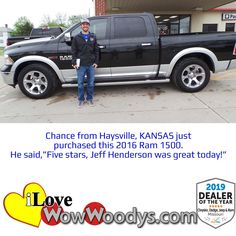 Congratulations to Chance on the purchase of this awesome truck! 🎉 Shop our Ram Trucks by clicking the link below!