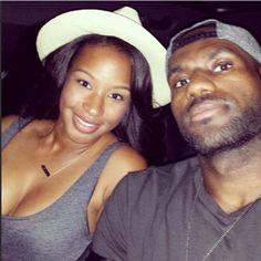 56ebc403bbeb Savannah Brinson and her soon to be husband LeBron James Nike Sweatpants