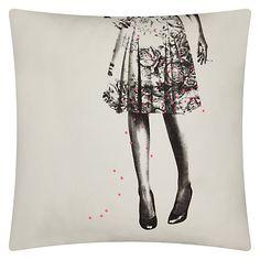 Buy La Cerise Sur Le Gateau Alice Liberty Cushion, White Online at johnlewis.com