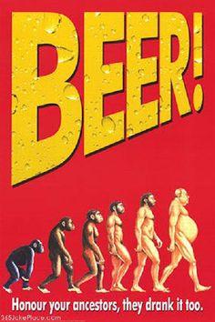 Beer belly evolution.