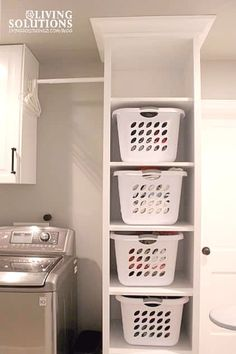 """Get excellent ideas on """"laundry room storage small shelves"""". They are offered fo. Get excellent ideas on """"laundry room storage small shelves"""". They are offered for you on our website. Laundry Basket Shelves, Laundry Basket Holder, Laundry Room Organization, Laundry Decor, Bathroom Laundry, Laundry Hamper, Corner Laundry Basket, Organized Laundry Rooms, Clothing Organization"""
