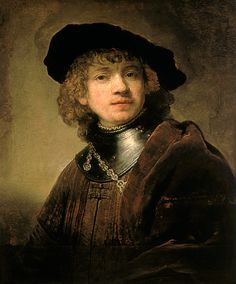 Self portrait (1634). Florenz, Galleria degli Ufizzi // Rembrandt van Rijn(1606 - 1669). Baroque