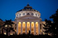 The Romanian Athenaeum is one of the most representative buildings of the Capital Bucharest Capital Of Romania, Bucharest Romania, Eastern Europe, Taj Mahal, To Go, Spaces, World, Building, Buildings