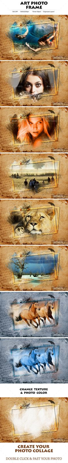Buy Art Photo Frame by sosgugo on GraphicRiver. It`s super easly … Specification: Total 1 PSD Files! Best Photoshop Actions, Photoshop Elements, Photoshop Effects, Frame Template, Cover Template, Poster Pictures, Album Design, Hand Art, Photoshop Photography