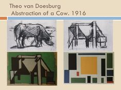 theo van doesburg cow - Google Search