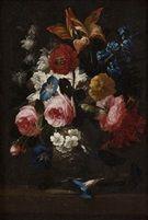 Rose, campanule e Altri fiori in un vaso Rose, fiordalisi e Altri fiori in coppia vaso un di Franz Werner von Tamm