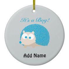 It's a Boy! Hedgehog Christmas Tree Ornament