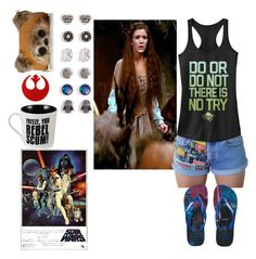 """""""ootd coming soon,  happy star wars day 2017"""" by hippyrain ❤ liked on Polyvore featuring Loungefly and Havaianas"""