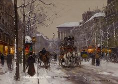"Painting of the Day (just hit the SOLD archives): Edouard Cortes': ""Boulevard de la Madeleine, Winter"" - http://rehs.com/blog/2014/05/painting-of-the-day-just-hit-the-sold-archives-edouard-cortes-boulevard-de-la-madeleine-winter/"
