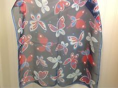 """Women's Butterfly Scarf Navy and Red Echo 21"""" Square 