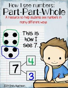 Part Part Whole: How I See Numbers--these sheets help students to visualize numbers and see the connections between them.  Numbers 3-10 are included