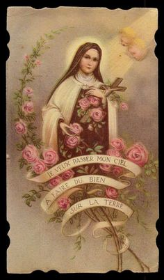 http://www.ebay.com/itm/ST-THERESE-OF-LISIEUX-CRUCIFIX-ROSES-Vtg-HOLY-CARD-/371332842565?