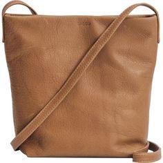 BAGGU Cross Body Purse II (€125) ❤ liked on Polyvore featuring bags, handbags, shoulder bags, purses, sac, accessories, crossbody handbags, leather shoulder bag, brown leather shoulder bag and brown leather purse