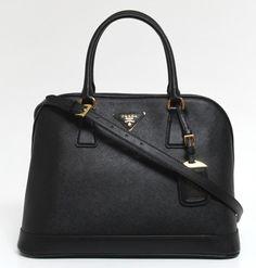 ee14e7f81358 Prada Saffiano Bicolor Granato NERO Lux Leather Messenger Tote Bag for sale  online | eBay