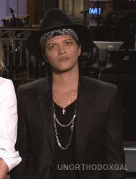 "Bruno Mars on SNL ""Those lips"" gif"