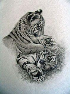 Finger Tattoos Punkte - My list of the most creative tattoo models Finger Tattoos, Body Art Tattoos, Sleeve Tattoos, Wrist Tattoos, Tattoo Ink, Tatoos, Jaguar Tattoo, Tiger Drawing, Tiger Art