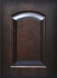 Brentwood Raised Panel Door  Available Material: Standard Wood Species Color Shown: Onyx Stain on Maple Material Available in All Outside Profiles - Shown with Square Outside Profile Cabinet Door Styles, Kitchen Cabinet Doors, Raised Panel Doors, Face Framing, Custom Cabinetry, Wood Species, Color Show, Door Handles, Profile