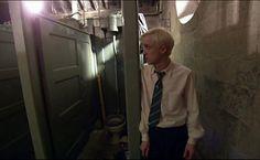Tom Felton behind the scenes of Harry Potter. The fight between Draco and Harry in the bathroom. Julian Dorn, Slytherin, Hogwarts, Julian Albert, Harry Potter 6, Drago Malfoy, Tom Felton, Drarry, Robert Pattinson