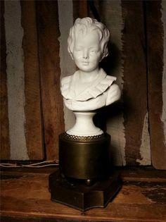 Vintage Antique Bust Statue Sculpture A. Alexandre by UrsMineNours