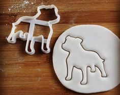 Staffordshire Bull Terrier Dog cookie cutter | biscuit cutter | fondant cutter | clay cheese cutter | one of a kind ooak