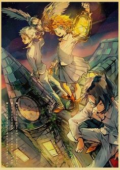 The Promised Neverland Poster Prints - 42X30 CM / E181 5