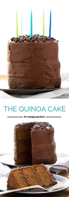 The most amazing GLUTEN-FREE cake ever! It's made from only healthy ingredients and is light, tender and moist. Plus, it's topped with a vegan (sweet potato!) chocolate frosting!