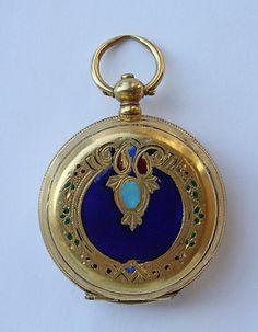Antique Ottoman Pocket Watch Enamel...