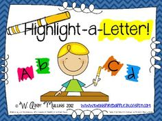 Highlight-A-Letter {Letter Identification}